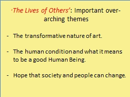 � The Lives of Others�