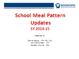 School Meal Pattern