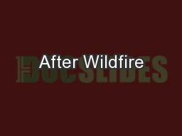 After Wildfire