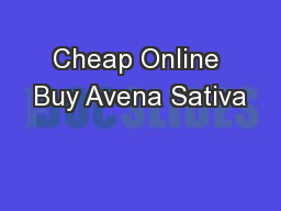 Cheap Online Buy Avena Sativa