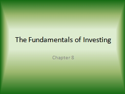 The Fundamentals of Investing PowerPoint PPT Presentation