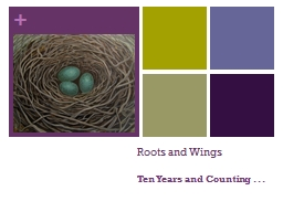 Roots and Wings PowerPoint PPT Presentation