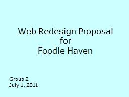 Web Redesign Proposal PowerPoint PPT Presentation