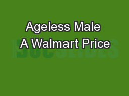 Ageless Male A Walmart Price