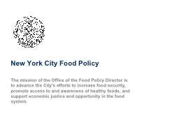 New York City Food Policy