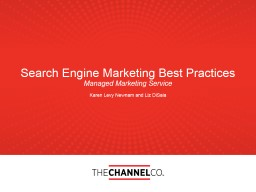 Search Engine Marketing Best Practices PowerPoint PPT Presentation