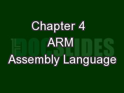 Chapter 4  ARM Assembly Language