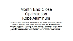 Month-End Close Optimization
