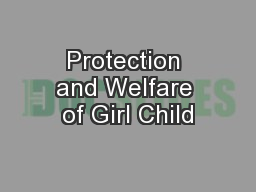 Protection and Welfare of Girl Child