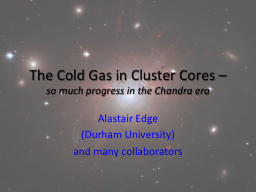 The Cold Gas in Cluster Cores –