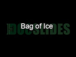 Bag of Ice & Water Vending Machines
