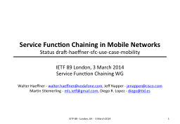 Service Function Chaining in Mobile Networks