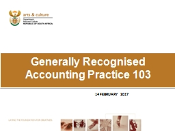 Generally Recognised Accounting Practice 103