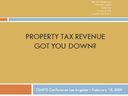 Property Tax Revenue PowerPoint PPT Presentation