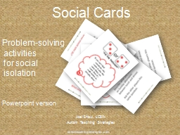 Social Cards PowerPoint PPT Presentation