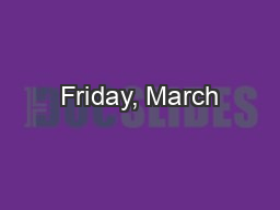 Friday, March