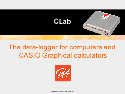 The data-logger for computers and CASIO Graphical calculato