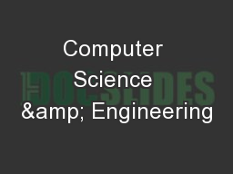 Computer Science & Engineering PowerPoint PPT Presentation