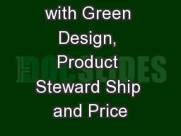 EPQ Model with Green Design, Product Steward Ship and Price