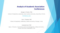 Analysis of Academic Association Conferences