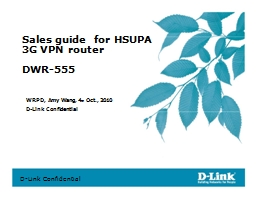 Sales guide  for HSUPA
