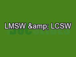 LMSW & LCSW