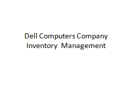 Dell Computers Company PowerPoint PPT Presentation