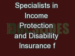 Specialists in Income Protection and Disability Insurance f