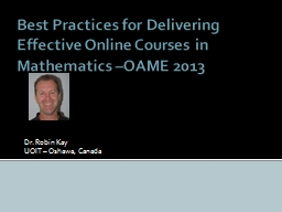 Best Practices for Delivering Effective Online Courses in M