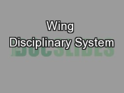 Wing Disciplinary System