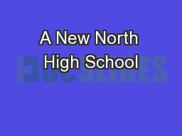 A New North High School