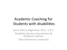 Academic Coaching for