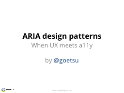 ARIA design patterns