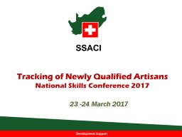 Tracking of Newly Qualified Artisans
