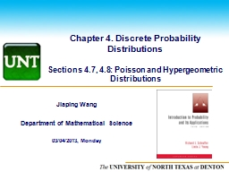 Chapter 4. Discrete Probability Distributions