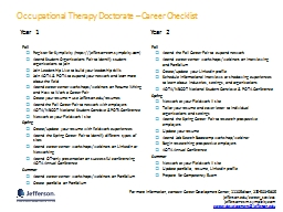 Occupational Therapy Doctorate