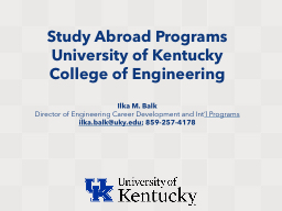 Study Abroad Programs PowerPoint PPT Presentation