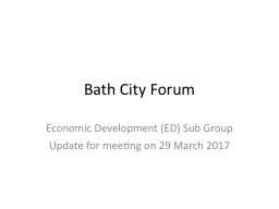 Bath City Forum