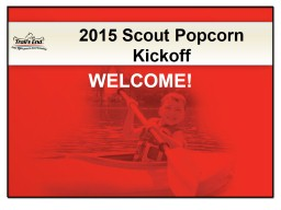 2015 Scout Popcorn Sellers Academy