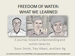 FREEDOM OF WATER: