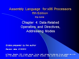 Assembly Language for x86 Processors PowerPoint PPT Presentation
