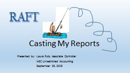 Casting My Reports