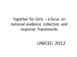 Together for Girls – a focus on national evidence collect