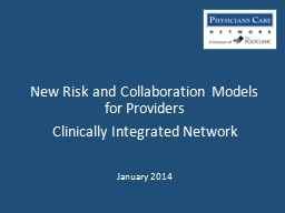 New Risk and Collaboration Models for