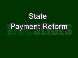 State Payment Reform