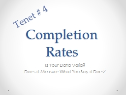 Completion Rates