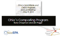Ohio's Solid Waste and C&DD Program
