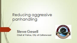 Reducing aggressive panhandling PowerPoint PPT Presentation