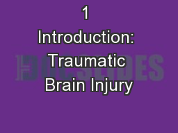1 Introduction: Traumatic Brain Injury PowerPoint PPT Presentation