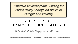 Effective Advocacy Skill Building for Public Policy Change